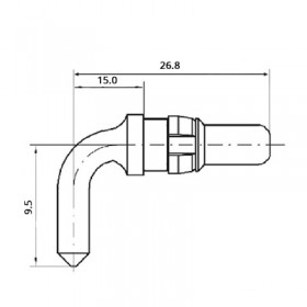 High Power Right Angle Plug Contact (300A)
