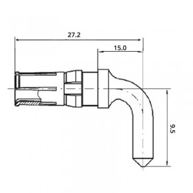 High Power Right Angle Socket Contact (30A)
