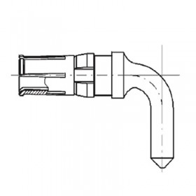 High Power Right Angle Socket Contact (20A)