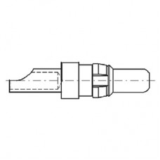 High Power Straight Crimp Plug Contact (20A - AWG 12-14)