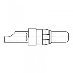 High Power Straight Crimp Plug Contact (30A - AWG 10-12)