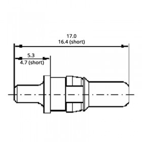 High Power Straight Short Plug Contact (20A)