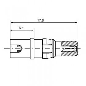 High Voltage Right Angle Socket Contact