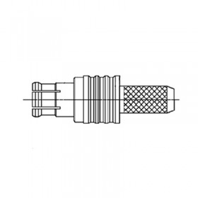 Straight MCX Cable Mounted Plug