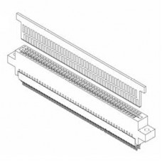 "Bi Level Card Edge Header 1.27mm [.050""] /2.54mm [.100""] Contact Centres"