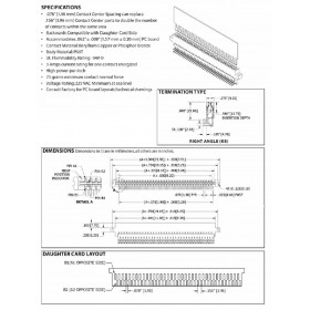 "Bi Level Card Edge Header 1.98mm [.050""] /3.96mm [.100""] Contact Centres"