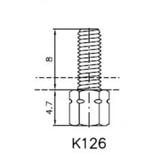 Lock Nut Stud (8mm 4-40 UNC Internal, M3 External)