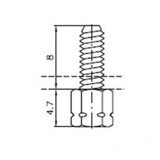 Lock Nut Stud (8mm M3 Internal, 4-40 UNC External)