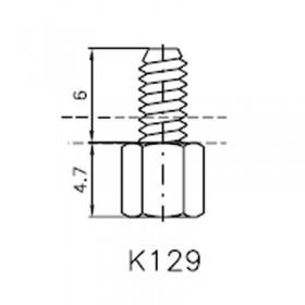 Lock Nut Stud (6mm 4-40 UNC)