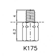 Lock Nut Stud (4mm 4-40 UNC Internal, M3 External)