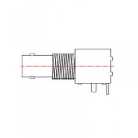 PCB Right Angle Mounting BNC Bulkhead Connector