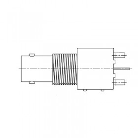 PCB Top Entry BNC Bulkhead Socket