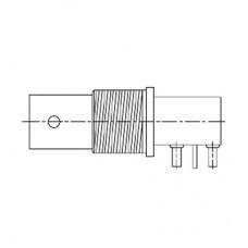 PCB Low Profile Right Angle Mounted Bulkhead Connector