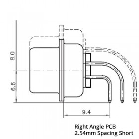 Mixed Layout D Subminiature Right Angle Connector Shell