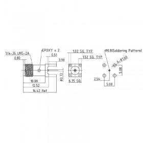 Top Entry PCB SMA Socket