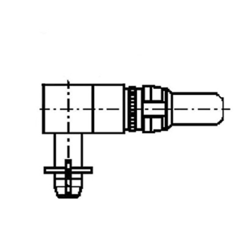 right angle press fit power plug contact  30a
