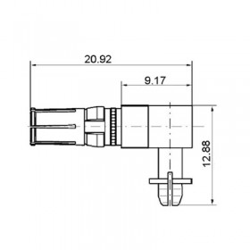 Right Angle Press Fit Power Sokcet Contact (30A)