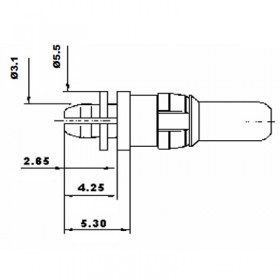 Straight Press Fit Power Plug Contact (30A)