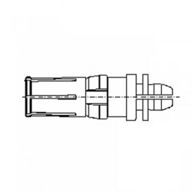 Straight Press Fit Power Socket Contact (30A)
