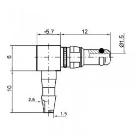 Pneumatic Right Angle Plug Contact (PU2)