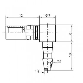 Pneumatic Right Angle Socket Contact (PU2)