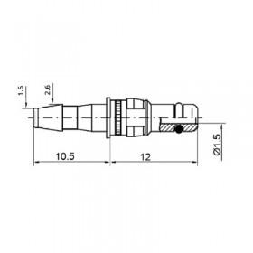 Pneumatic Straight Plug Contact (PU2)