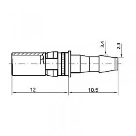 Pneumatic Straight Socket Contact (PU3)