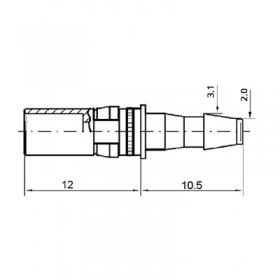 Pneumatic Straight Socket Contact (PU4 2.5)