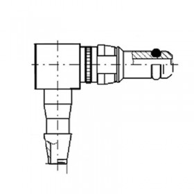 Pneumatic Right Angle Plug Contact (PU3)