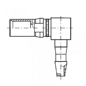 Pneumatic Right Angle Socket Contact (PU3)