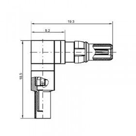 Right Angle Cable Plug (75Ω) for Cable Group AF