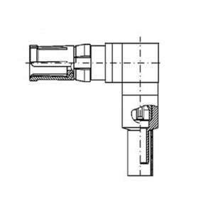 Right Angle Cable Socket (50Ω) for Cable Group AD
