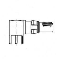 Right Angle PCB Plug Short (50Ω)