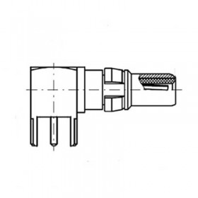 Right Angle PCB Plug Short (50Ω)