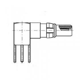 Right Angle PCB Plug (75Ω)