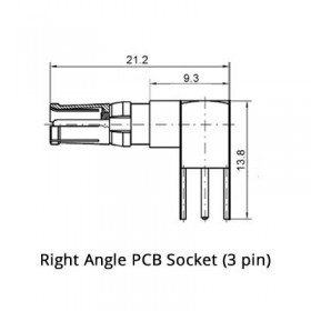 Right Angle PCB Socket (50Ω)