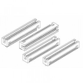 """Card Edge Header 1.27mm [.0.50""""] Contact Centres Shrouded (Male)"""