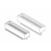 """Card Edge Header 1.00mm [.0.39""""] Contact Centres Shrouded (Male)"""