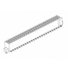 "Card Edge Header 1.27mm [.0.50""] Contact Centres (Female)"