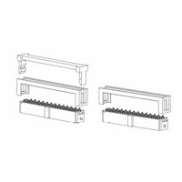 "Card Edge Header 1.27mm [.0.50""] Contact Centres, 2.54mm [.100""] Row Spacing (Female)"