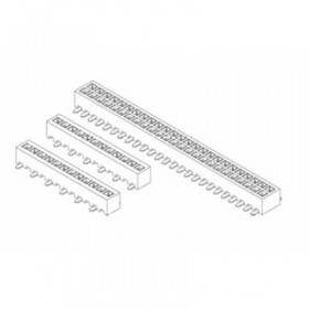 "Card Edge Header 1.27mm [.0.39""] Contact Centres (Female)"