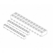 "Card Edge Header 2.00mm [.079""] Contact Centres (Female)"