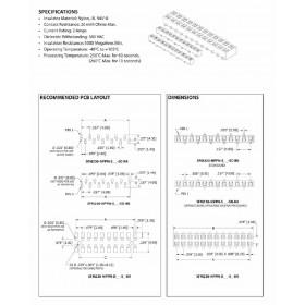 "Card Edge Header 2.00mm [.079""] Contact Centres (Female)"