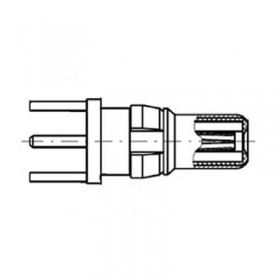 Straight PCB Plug (75Ω)