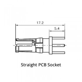 Straight PCB Socket (50Ω)