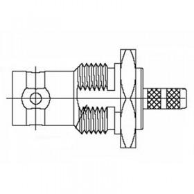BNC bulkhead Socket
