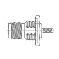 TNC Cable Mounted Bulkhead Socket