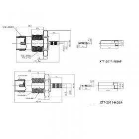 TNC Bulkhead Socket