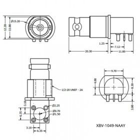 Right Angle PCB Mounting BNC Socket