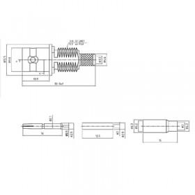 XBD-1051-NGAF - BNC Front Bulkhead Mount Socket